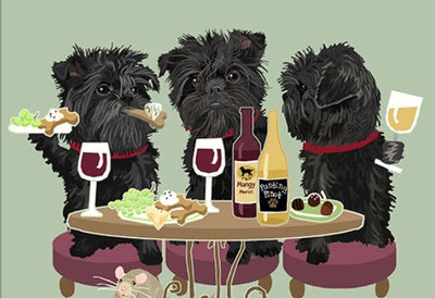 "Dog's ""WINEing"" in Aspen Print Affen Pinscher to Shar-pei"