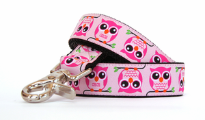 Marin Pink Fabric Leash