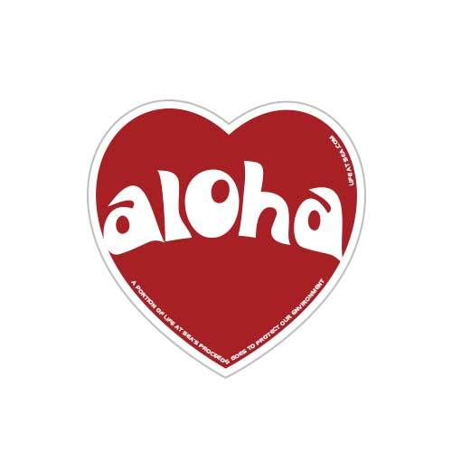 Aloha Heart Sticker