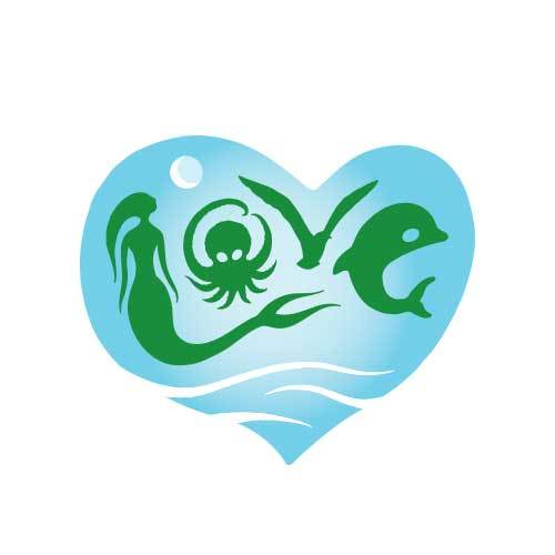 Aloha Ocean Love Sticker