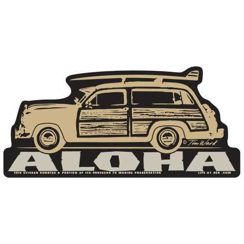 Aloha Woodie Sticker