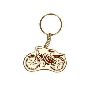 California Beach Cruiser Bike Keychain