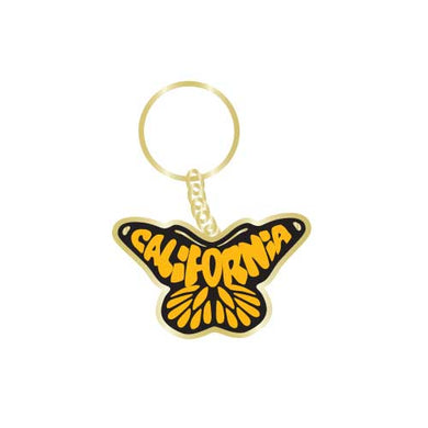California Butterfly Monarch Keychain