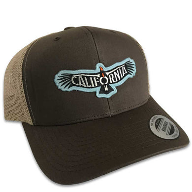 California Condor Hat (Brown Trucker)