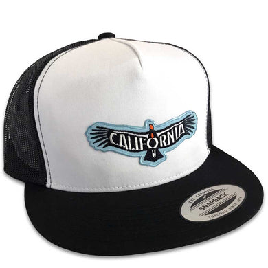 California Condor Hat (Wht/Blk Trucker)