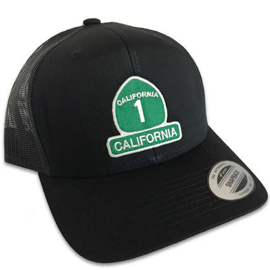 California Highway 1 Hat (Black Trucker)