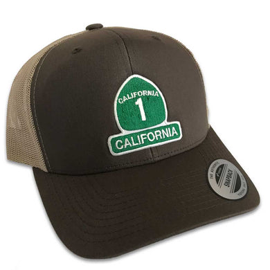 California Highway 1 Hat (Brown Trucker)