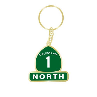 California Highway 1 North Keychain