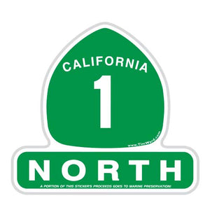 California Highway 1 North Sticker