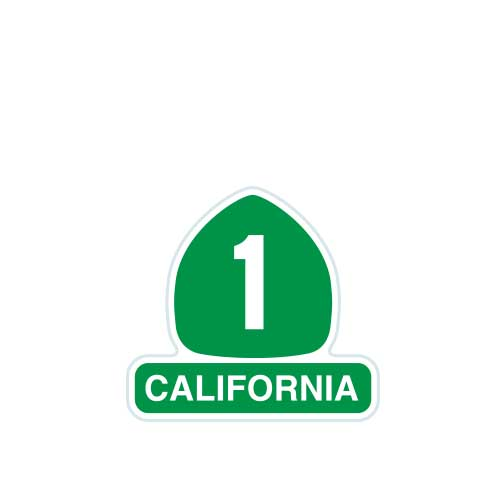 California Highway 1 Patch [Small]