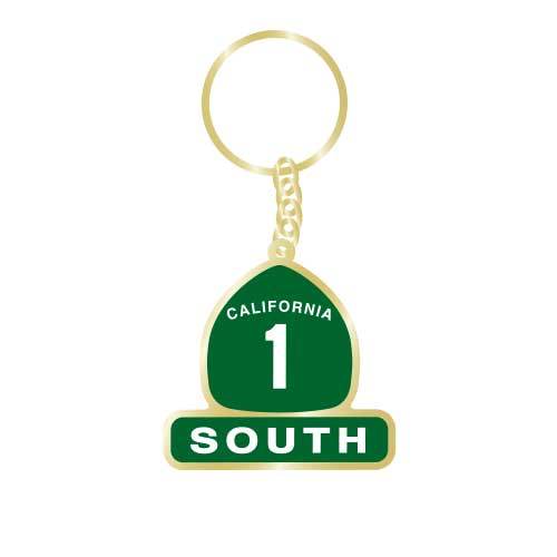 California Highway 1 South Keychain