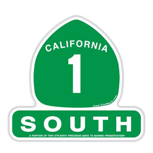 California Highway 1 Sticker