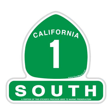 California Highway 1 South Sticker