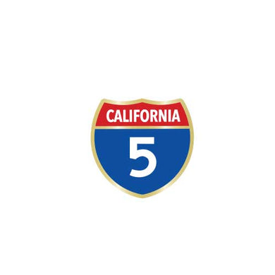 California Highway 5 Collector Pin