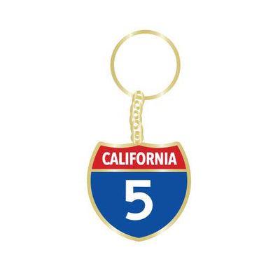 California Highway 5 Keychain