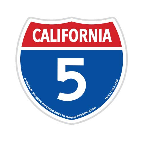 California Highway 5 Sticker