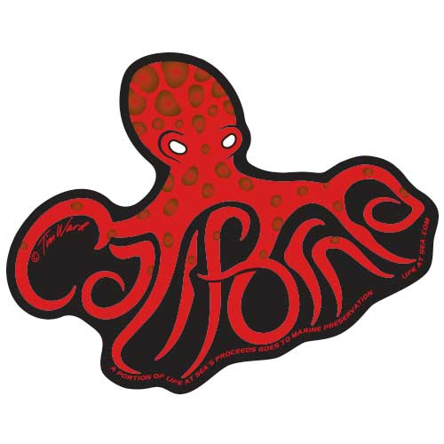 California Octopus Sticker [Red]