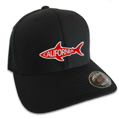 California Shark Hat (Black Flexfit)
