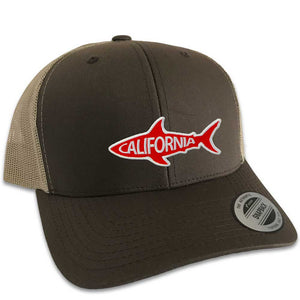 California Shark Hat (Brown Trucker)