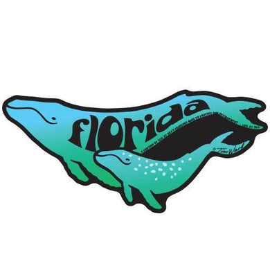 Florida Humpback Whales Sticker