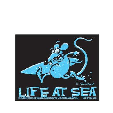 Life At Sea Surf Rat Sticker