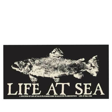 Life At Sea Salmon Sticker