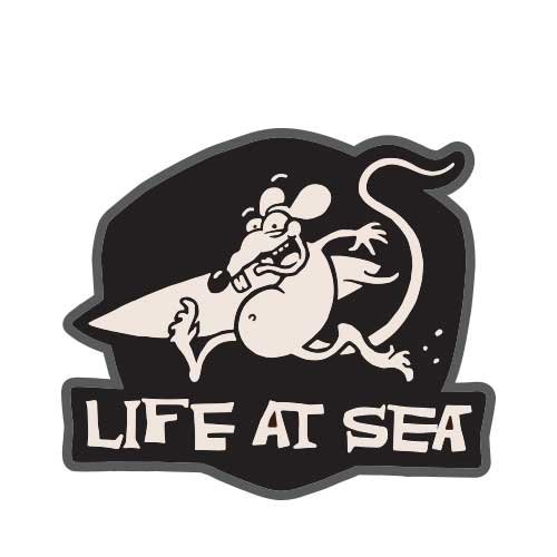 Life At Sea Surf Rat Patch