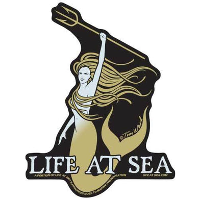 Life At Sea Vida Marina Sticker [Gold]