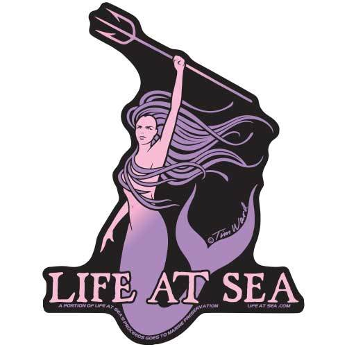 Life At Sea Vida Marina Sticker [Purple]
