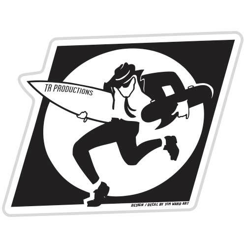 TR Productions Surf/Skate Sticker