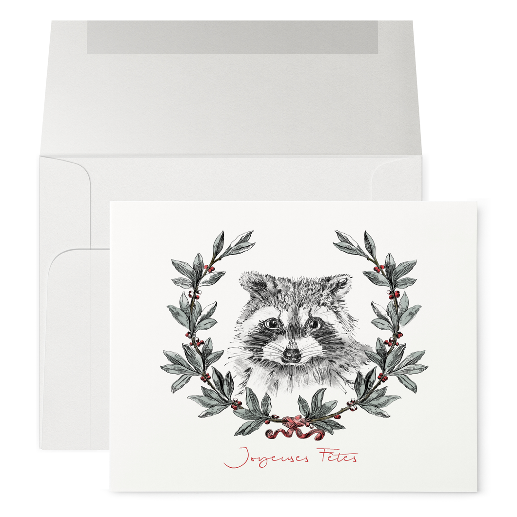 Racoon and Wreath