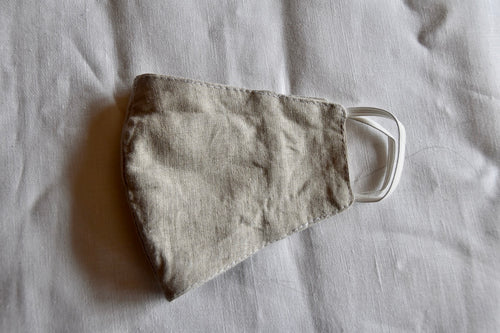 Natural linen face mask