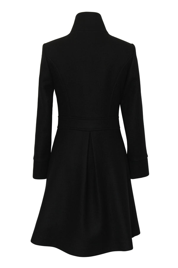 Black Wool Hamlet Coat - Tempeste
