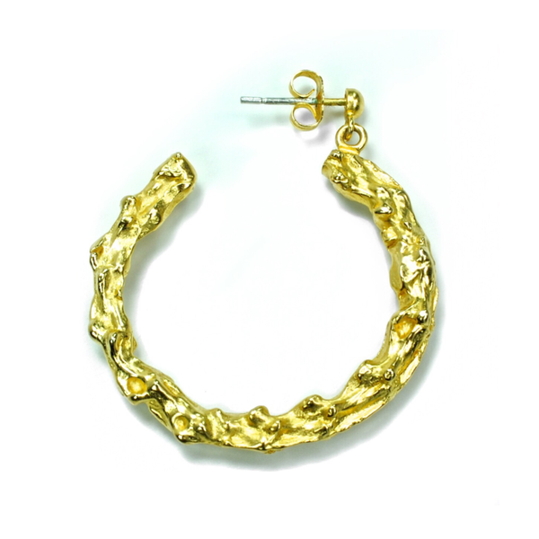 Turtle Vertebrae Hoop Earrings - Tempeste