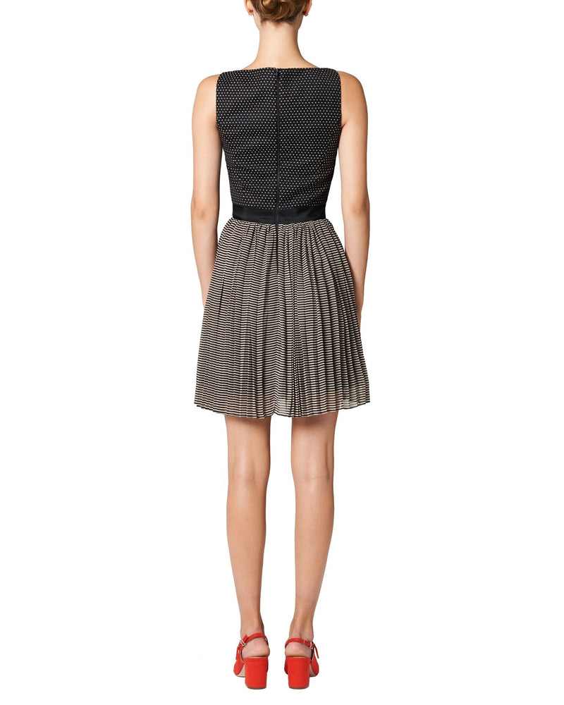 Polka Dots Pleated Dress - Tempeste