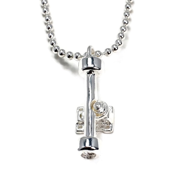Truck Charm And Ball Chain On Silver Plated Ball Chain - Tempeste