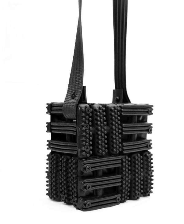 Square Mini Rubber Crossbody - Tempeste