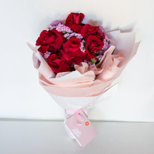 Red Wine Half Dozen Rose Bouquet