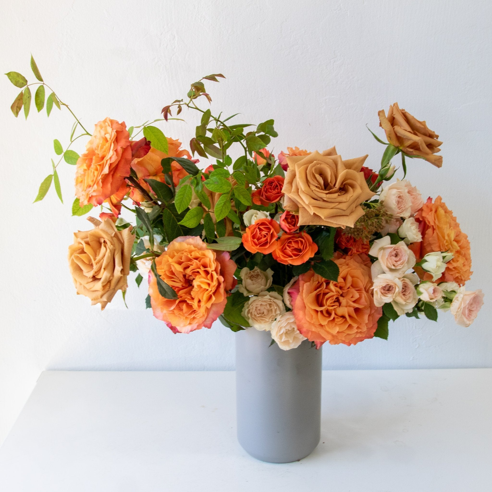 Morning Mimosa Rose Arrangement - Sage Sisters