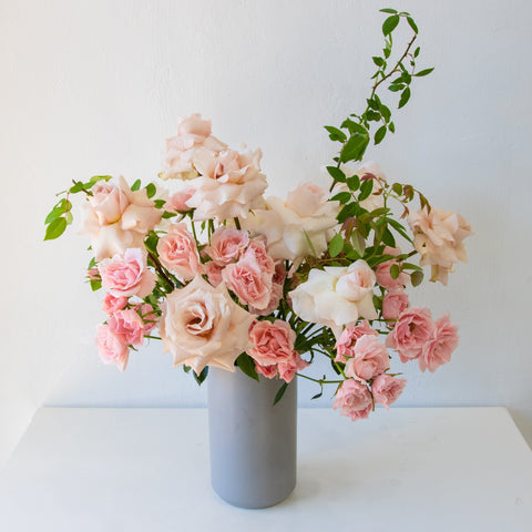 Pretty in Pink Rose Arrangement - Sage Sisters