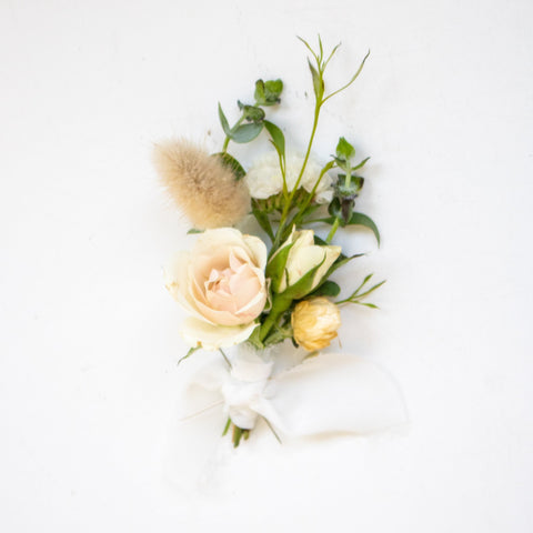 White Boutonniere - Sage Sisters