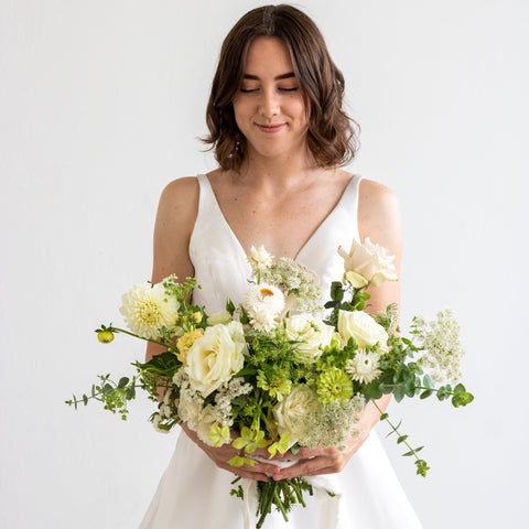 White Bridal Bouquet - Sage Sisters