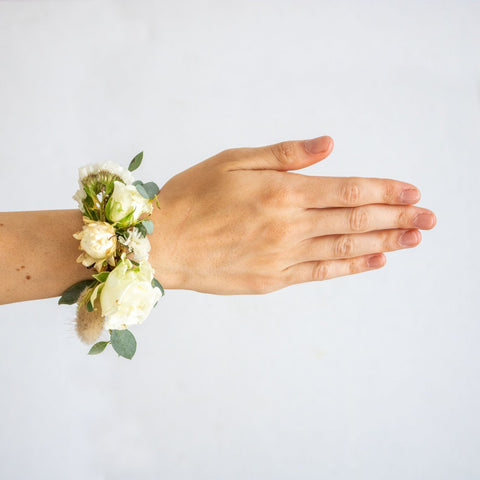 White Cuff Corsage - Sage Sisters
