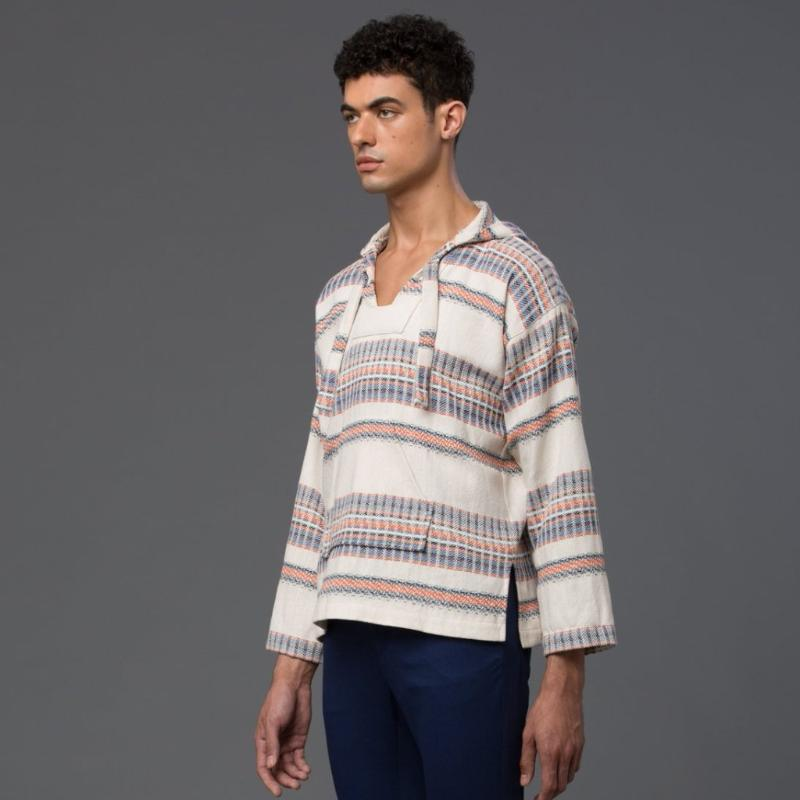 Palmiers Du Mal Striped Drug Rug