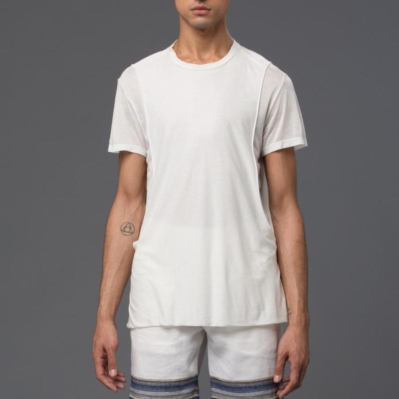 Garciavelez White Reversed Tank Tee Shirt