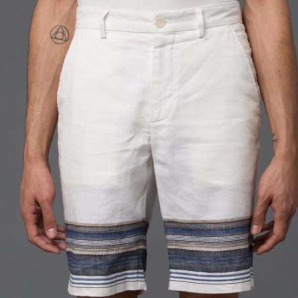 Krammer and Stoudt White Striped Short