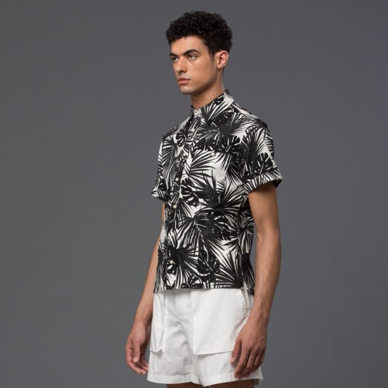 Krammer and Stoudt Hawaiian Print Short Sleeve Shirt