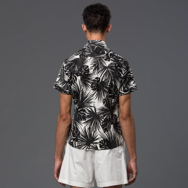 Krammer and Stoudt Black and White Floral Shirt