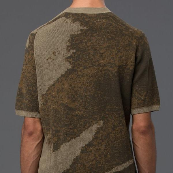 Ddugoff Drab Short Sleeve Sweater