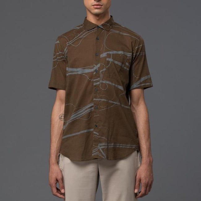 Ddugoff Arteries Print Henry Shirt
